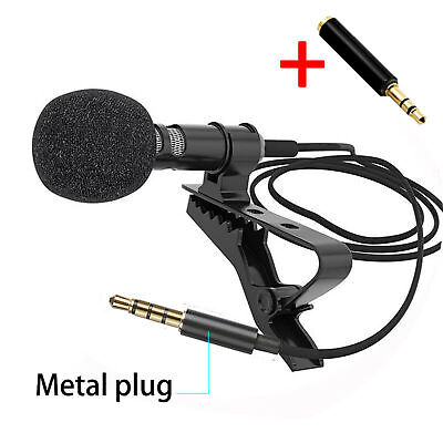 Details about  Tie Clip Mic Lapel Lavalier Condenser Microphone for iPhone iPad