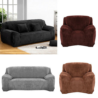 Fine Sofa Loveseat Chair Furniture Cover Brown Black Taupe Micro Suede Style