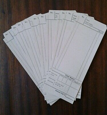 Vintage Blick Time Recorder Clocking In Cards X10