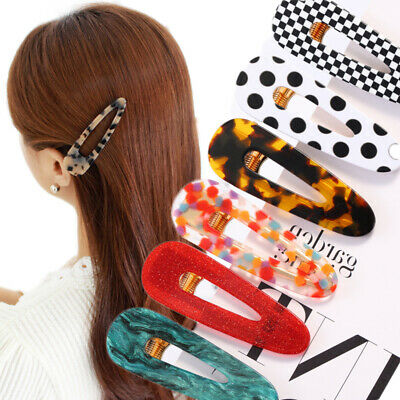 Hot Candy Color Women Girl Hair Clips Waterdrop Hairpin Hair Accessories Gift
