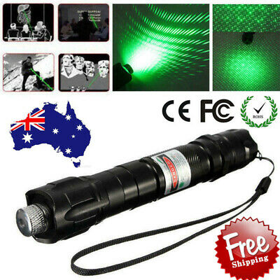 Military High Power 532nm Green Beam Laser Pointer 18650 Rechargeable Battery AU