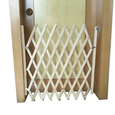 UK Folding Baby Gate Safety Fence Child Protection Wood Door Dog Cat Pet Barrier