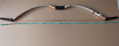 Hunting Recurve Bow Exquisite Craft Handmade Snakeskin Traditional Longbow