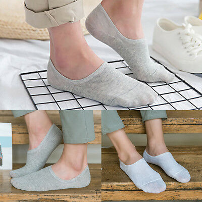 5 Pairs Men Women Cotton Invisible No Show Nonslip Loafer Low Cut Boats Socks AU