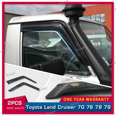 AUS Luxury Window Visor Weathershields Toyota Landcruiser 70 76 78 79 T ute 2pcs