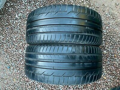 Part Worn Tyres 2 x 235 35 19 Summer  Dunlop SpSport Maxx RT 91Y EL