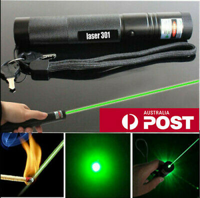Military 5 Miles 8000M 532nm Green Laser Pointer Pen Visible Beam Light AU store