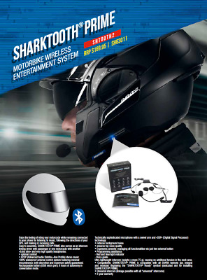 Interphone Bluetooth Shark Sharktooth Prime Interfono