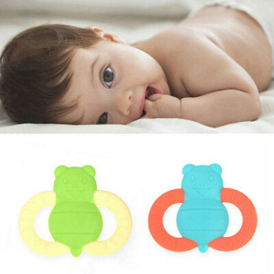 Silicone Baby Pacifier Bee Shape Teether Pendant Chew Teething For Baby Gifts GS