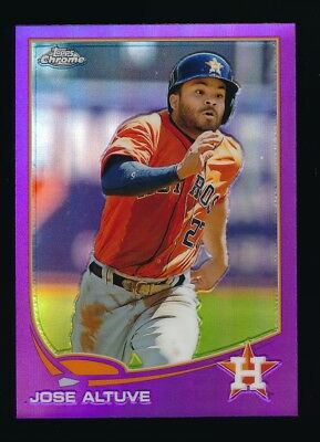 2013 Topps Chrome Refractor #35 Jose Altuve Houston Astros Baseball Card Honkbal