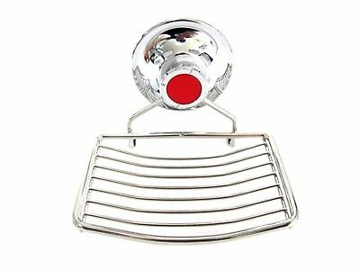 Stainless Wire Soap Dish Tray Vacuum Suction Cup Holder Bathroom Wall Attach_IG
