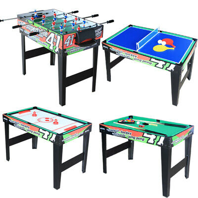 """31.5"""" 4 in 1 Multi Game Table for Kids Steady Combo Game Pool Table Table Tennis"""
