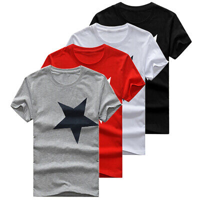 cef87d54879c Men Summer Crew Neck T-shirts Printed Short Sleeve T-shirt Tees Size S