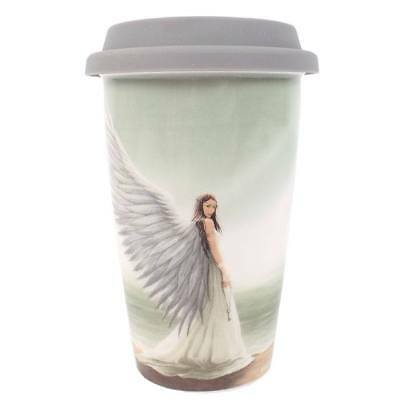 Anne Stokes boxed Travel Mug featuring the Spirit Guide design