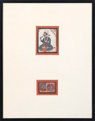 Pair of 18th/19th c. India, Rajasthan Gouache Miniature Paintings
