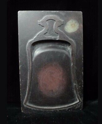 """Rare Antique Chinese """"Duan"""" Ink Stone Carving Rectangle Shape Ink Slab Mark"""