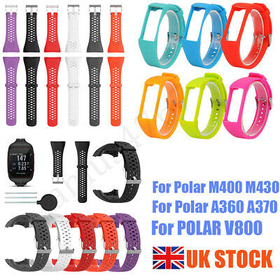 UK Silicone Watch Wrist Band Strap Bracelet Replacement For POLAR V800 M400 M430
