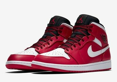 new concept 2e278 8a4d1 Nike Air Jordan 1 Mid  Chicago  554724-605 Gym Red Size UK 15