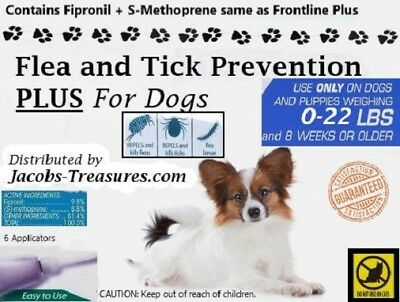 6 Months, For Small Dogs 0-22lbs, Generic Frontline Plus, Six Applicators