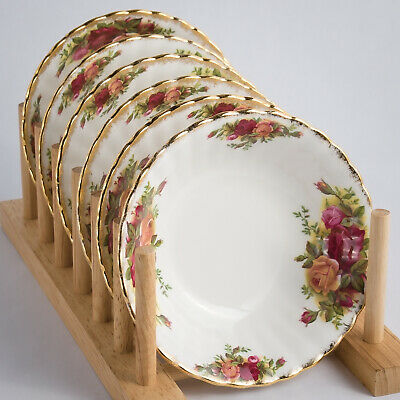 """Royal Albert Old Country Roses 6 Fruit Saucers Small Bowls 5.5"""""""