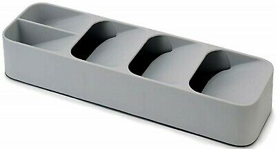 Joseph Drawerstore Compact and Cutlery Organiser- Grey Stacked Compartments