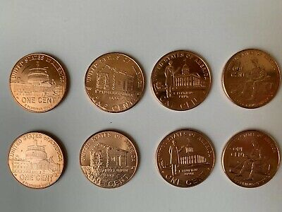 Complete Set Lincoln Bicentennial 2009 Cent Penny P & D 8 Coins