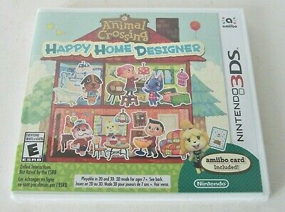 Animal Crossing Happy Home Designer (Nintendo 3DS) NEW Simulation Game amiibo