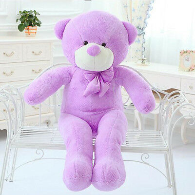 AU 60cm Purple Teddy Bear Plush Soft Toy Gift Stuffed Cotton Doll  Kids  Hot