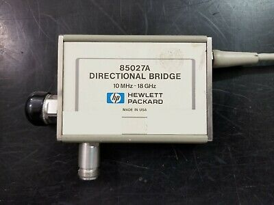 *VB offers accepted* HEWLETT PACKARD HP 85027A directional bridge 10Mhz-18Ghz