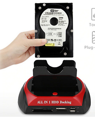All In One sd  Docking Station usb lettore di Schede Multi Slot Per Hdd 2.5/3.5