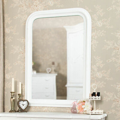 White Arched Wall Mounted Vanity Mantelpiece Living Room Bedroom Mirror