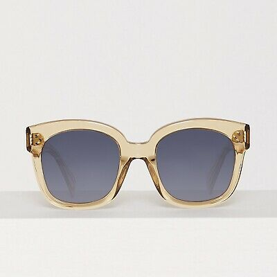 68cb3ab6cec CELINE New Audrey Sunglasses in Transparent Champagne Acetate CL 41805 S