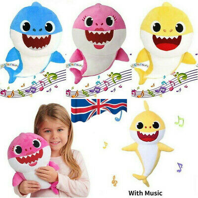 UK Baby Shark Plush Singing Plush Toys Music Song Doll English Toy Creative Gift