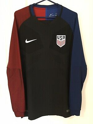 3c4a128f 2016 2017 Player Issue USA Soccer Jersey Long Sleeve Nike USMNT Large  Authentic