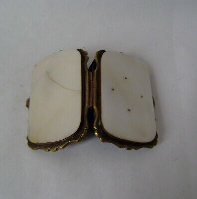 antique mother pearl victorian gold coin case small purse 19th century case