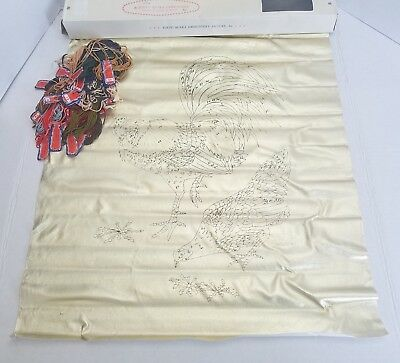 Tokyo Bunka Embroidery Picture Set Punch Kit H-251 Rooster Gold Metallic