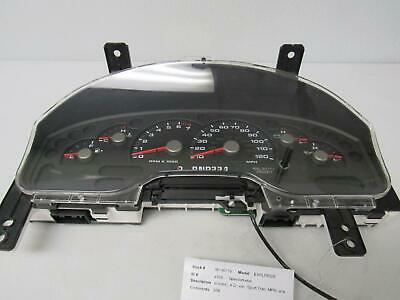 FORD EXPLORER Speedometer (cluster), 4 Dr, exc. Sport Trac; MPH, w/o message c