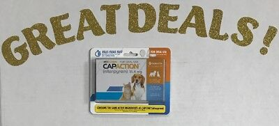 PetAction CapAction for Dogs/Cats 2-25lbs Flea Treatment 6Tablets Exp 02/2021