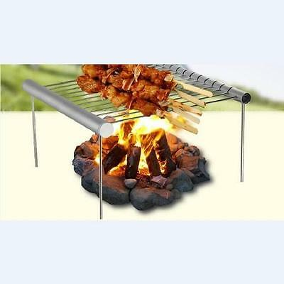 Outdoor Picnic Stainless Steel Grill Compact Folded Mini Pocket Easy Cooking RU