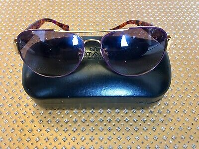 395da66fa1584 COACH Women s Aviator Sunglasses HC7059 L138 924890 Gold Purple Confetti +  Case