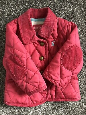 Joules baby girl quilted padded coat jacket 0-3 months pink Excellent Cond 💕🎀