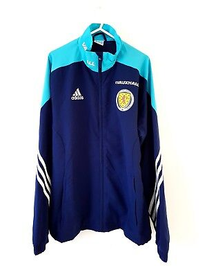 Scotland Jacket Coat. Medium. Adidas. Blue Adults Long Sleeves Football M.