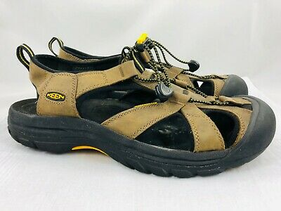 0a8c99264e60 KEEN Venice Men s 10.5 Brown Leather  1002319 Waterproof Sport Hiking  Sandals