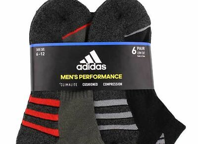 Adidas Men's Climalite Low Cut Sock 6-pair, size 6-12