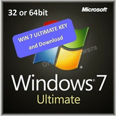 Win 7 ULTIMATE 32/64bit + Download links and Product Key from Genuine label
