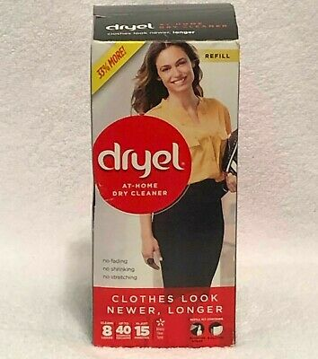 Dryel At-Home Dry Cleaner Refill Kit, Includes Dry Cleaning Cloths - 8 Load NEW