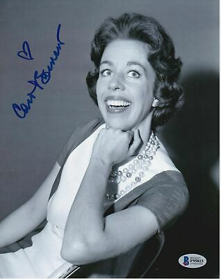 Carol Burnett autographed signed 8x10 photo coa BAS beckett