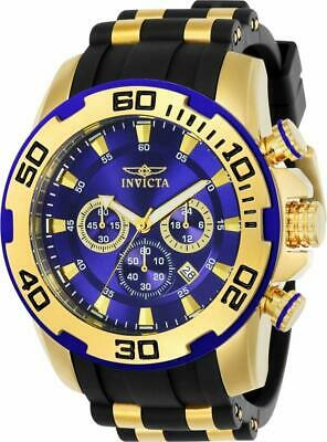 Invicta Pro Diver 22313 Men's Round Blue Analog Chronograph Date Silicone Watch