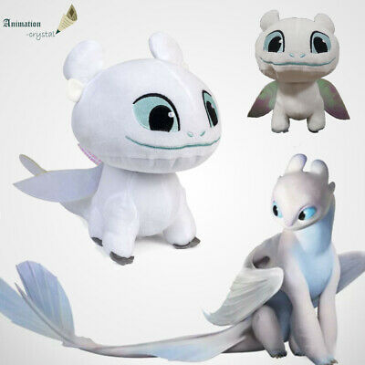 How to Train Your Dragon 3 White Toothless Dolls Plush Filled Toy Kids Gift