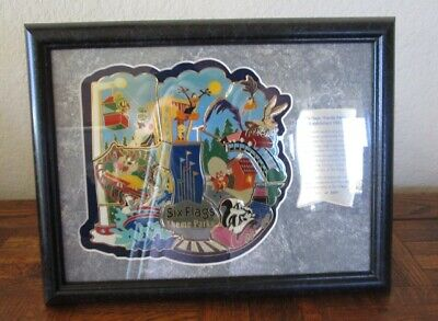 Six Flags Theme Parks Looney Tunes Characters 8 Pins Collectible Set 0111 of 250